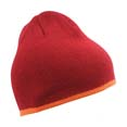 bonnet sport confortable bordeaux  orange