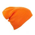 bonnet sport publicitaire long tricote orange