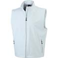 gilet sport personnalise softshell homme sans manches blanc_casse