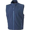 gilet sport personnalise softshell homme sans manches marine