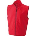 gilet sport personnalise softshell homme sans manches rouge