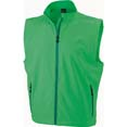 gilet sport personnalise softshell homme sans manches vert