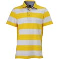 polo homme sport personnalise cybjn984 blanc  jaune