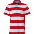 polo homme sport personnalise cybjn984 blanc  rouge