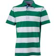 polo homme sport personnalise cybjn984 blanc  vert