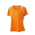 t shirt sport logo entreprise orange  blanc