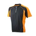 tee shirt sport publicitaire noir  orange