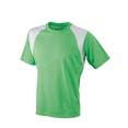 tee shirt sports logo entreprise lime  blanc