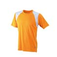 tee shirt sports logo entreprise orange  blanc